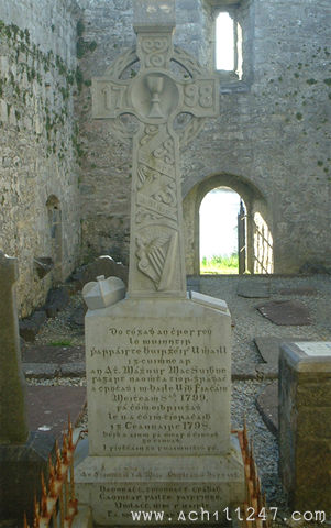 Fr Manus Sweeney tomb, Burrishoole Abbey, Co Mayo, Ireland