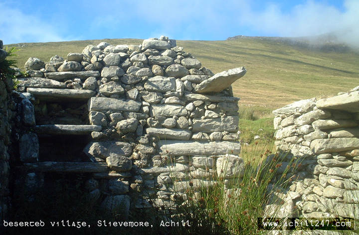 cottage at deserted village, Slievemore, Achill Island