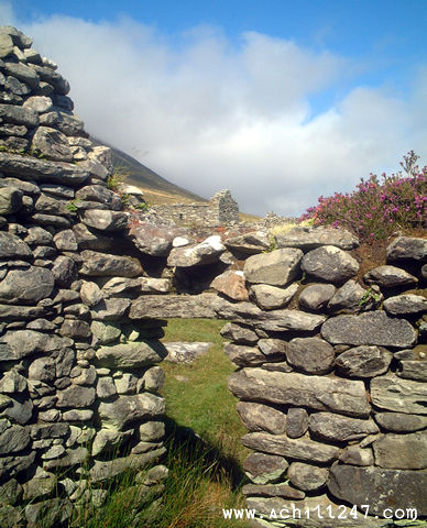 cottage doorway, deserted village, Slievemore, Achill Island