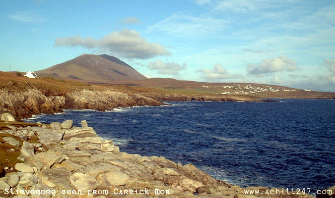 Slievemore seen from carrick mor, achill island - ireland pictures