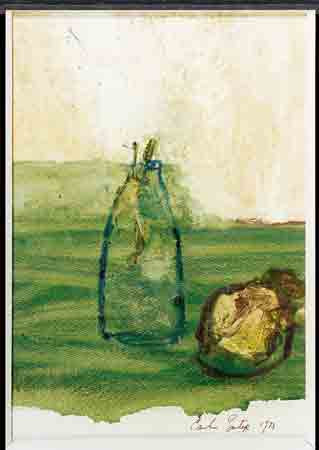 Milk Bottle & Old Turnip (1973) by Camille Souter