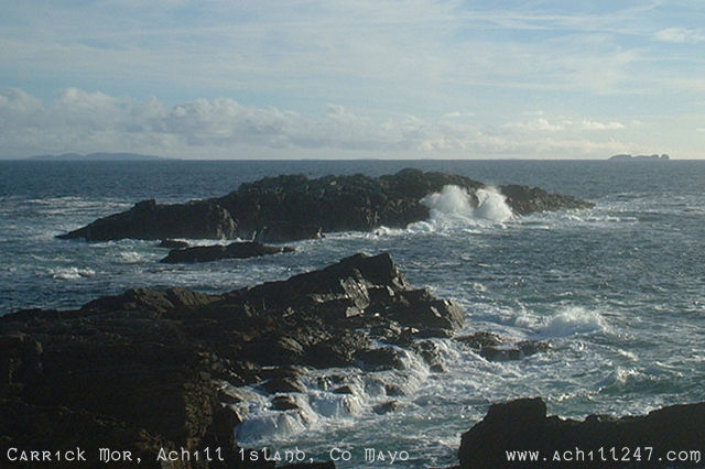 Atlantic waves at Carrick Mor, achill island - ireland pictures